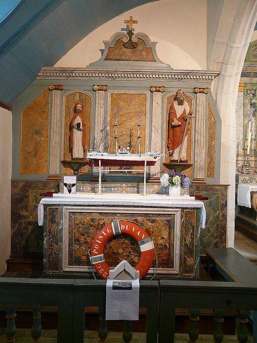 la chapelle de St They; l'intérieur;
