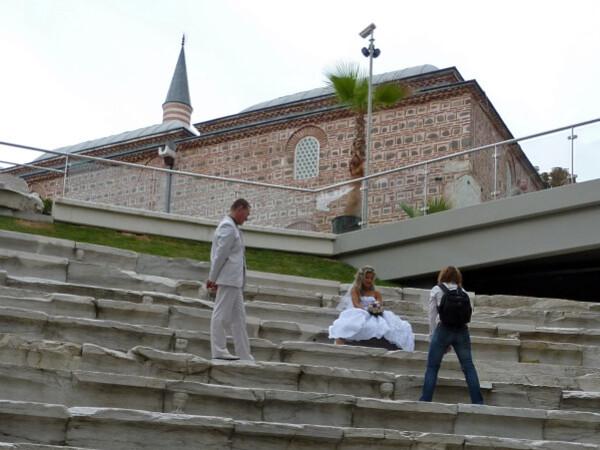 Jour 8 - Plovdiv - Mariés sur les marches du stade