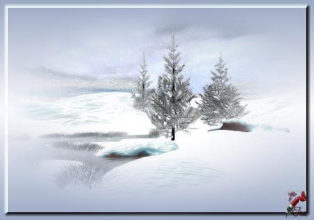 HI0020 - Tube paysage d'hiver
