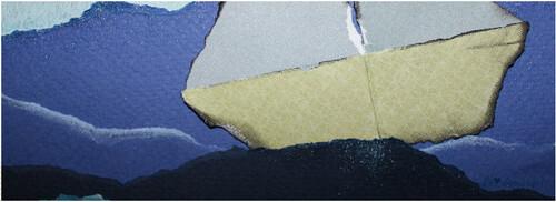 La mer / Papiers déchirés