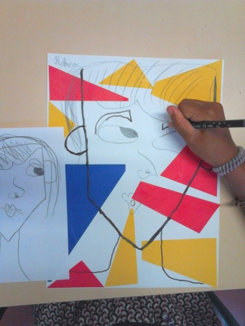 Portait, inspiration Lichenstein