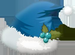 chapeaux de Noël bleus