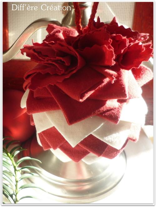 Noël mis en scène en rouge et blanc