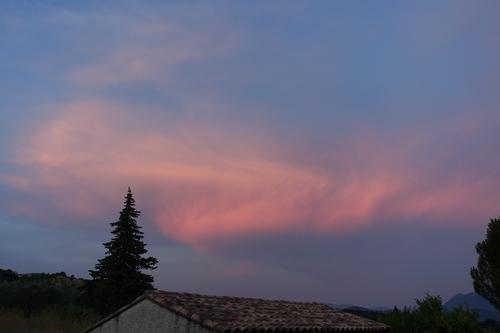 Un ciel tout rouge, ou presque...