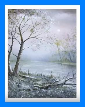 """Technique de la peinture """"alla prima"""", à partir d""""un paysage ."""