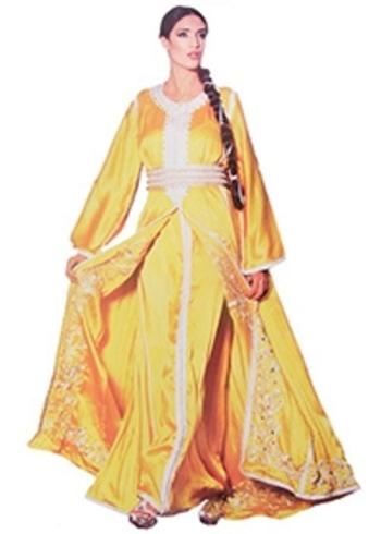 Takchita haute couture pour mariage marocain traditionnel et oriental avce Kaftan TAK-S807