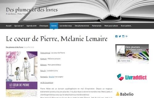 """Chronique sur """"Le Cœur de Pierre"""" - Des Plumes et des Livres"""