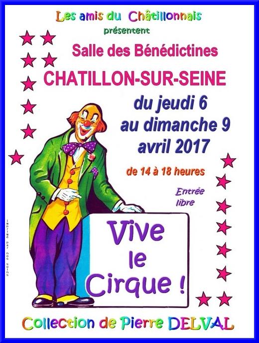 Les Amis du Châtillonnais vont présenter une superbe exposition sur le cirque....