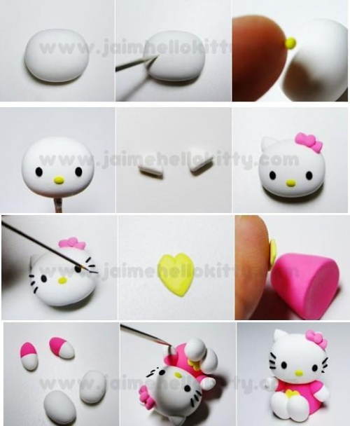 Tuto hello kitty fimo - Creation facile a faire ...