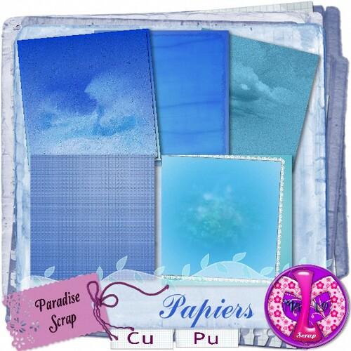 Papiers bleu