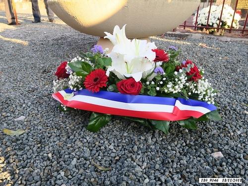 * cérémonie du 74ème anniversaire de la Libération au Monument aux Morts de Champagney.