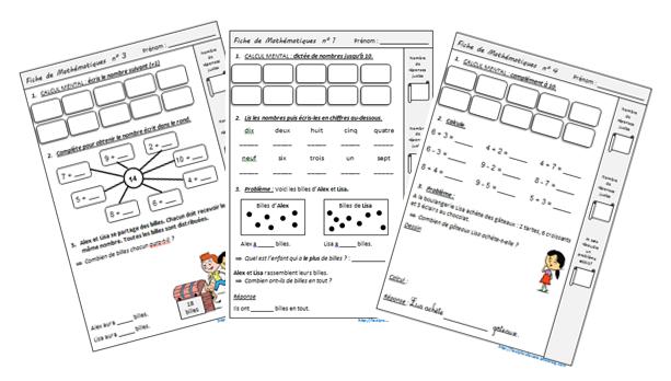 Exercices quotidiens en complément de Cap Maths CE1 - le stylo de vero