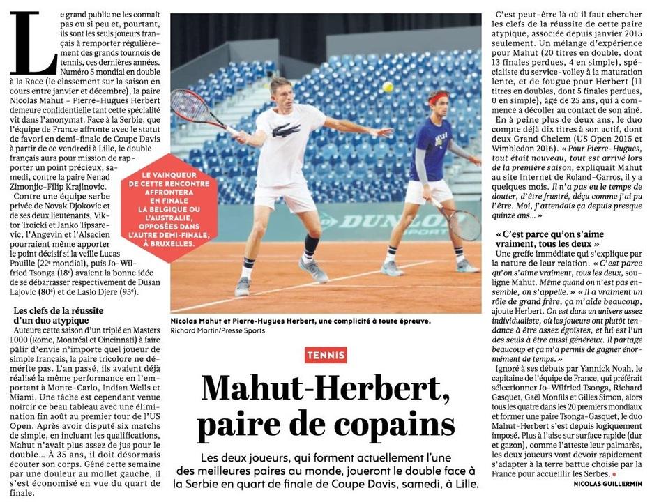 Mahut-Herbert, paire de copains