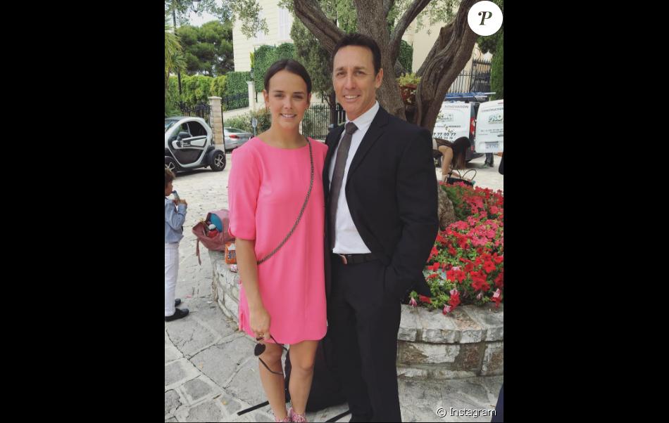 Pauline Ducruet et son père, en juillet 2016
