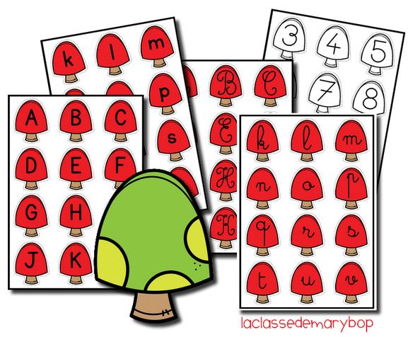 Alphabet champignon