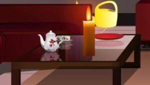 Dark candle room escape