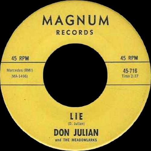"Don Julian & The Meadowlarks : CD "" The Booglay 1954-1965 "" Soul Bag Records DP 93 [ FR ]"