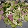 salade de concombre feta jambon