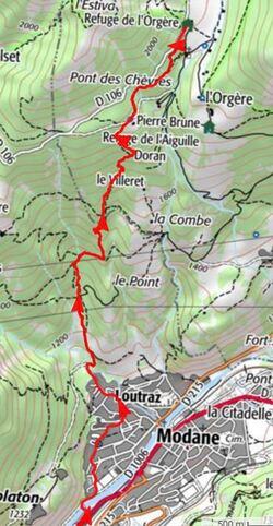 Vanoise 2017 - étape 1 - Modane > L'Orgère
