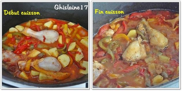 Cocotte de pilons de poulet, tomate, PdT, ratatouille