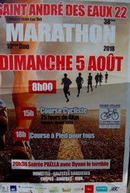 Marathon de St Andre des Eaux - Dimanche 5 août 2018