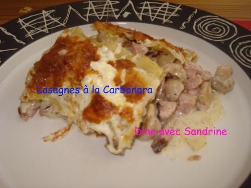 Des Lasagnes à la Carbonara