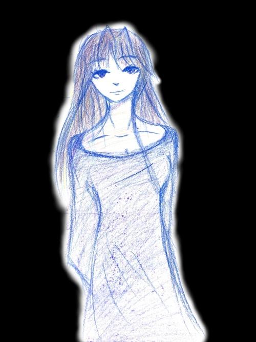 C'est un dessin fait avec des crayons de couleurs, je trouve cela plus beau !! ^^