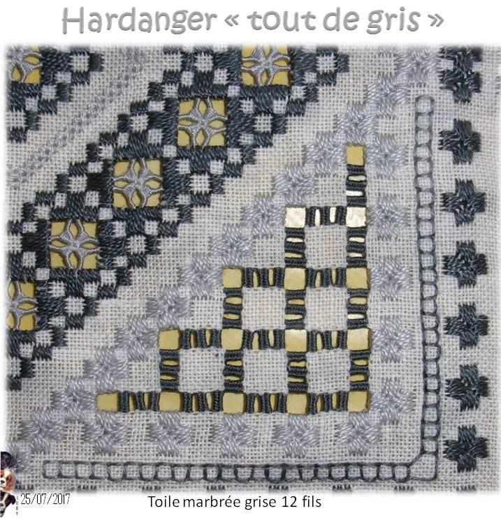"""Hardanger """"Tout de Gris"""" 6"""