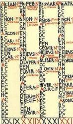 Calendrier romain antique