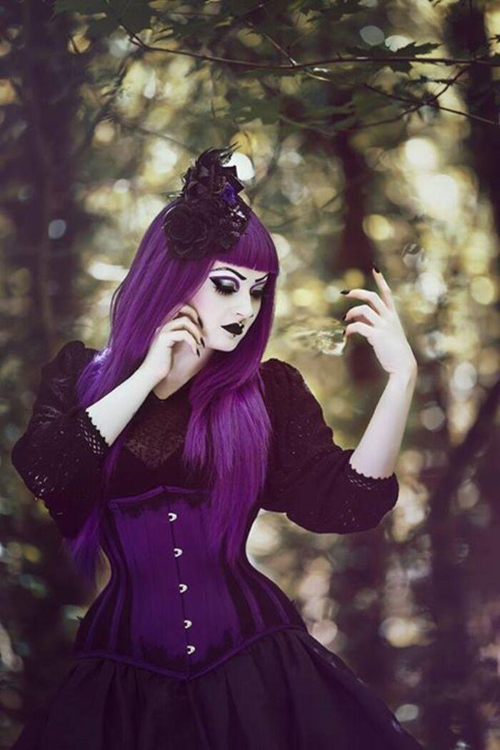 Purple gothic