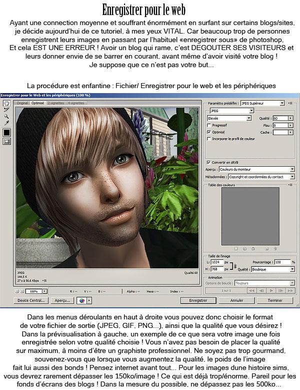 Enregistrer pour le web - Photoshop