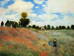 Art visuel à la mamière de Monet