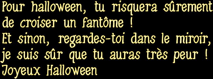 Texte halloween