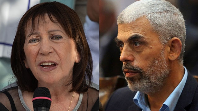 Zehava Shaul; Yahya Sinwar (Photo: AP)