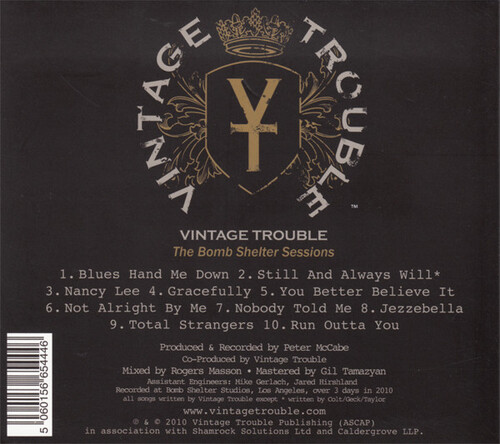 "Vintage Trouble : CD "" The Bomb Shelter Sessions "" Vintage Trouble Records VTX001 [ US ]"
