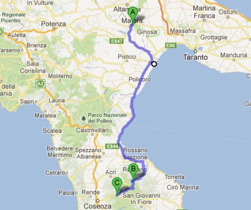 La Basilicate et la Calabre (sud)