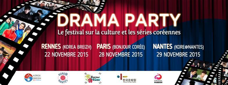 France : La  « Drama Party III » à Paris, Nantes et Rennes en novembre