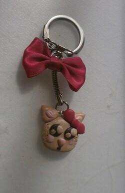 Porte-clé chat trop kawaii