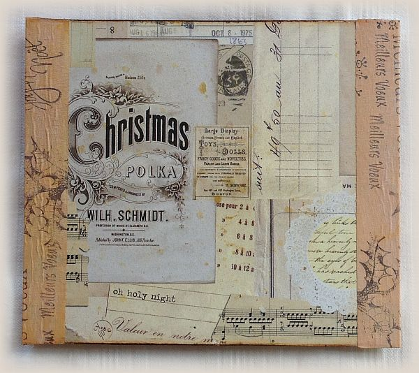 Carte de Noël en mixed media