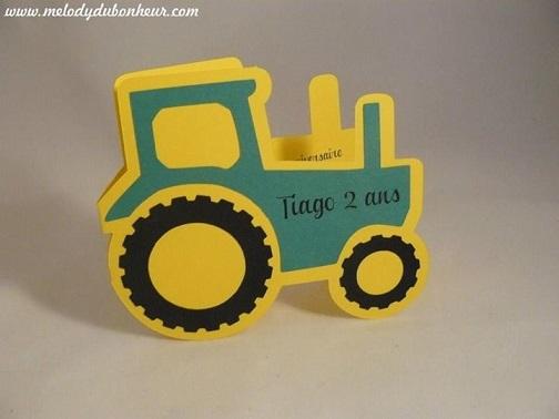 Faire part tracteur