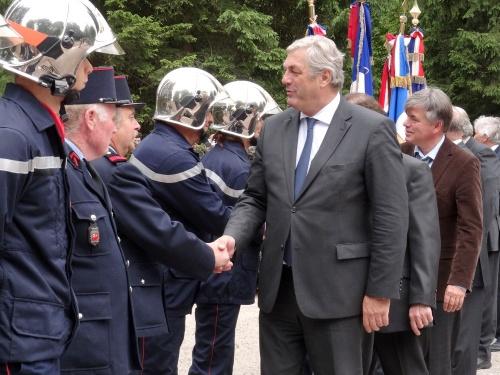 La cérémonie 2012 au Monument de la Forêt à Châtillon sur Seine