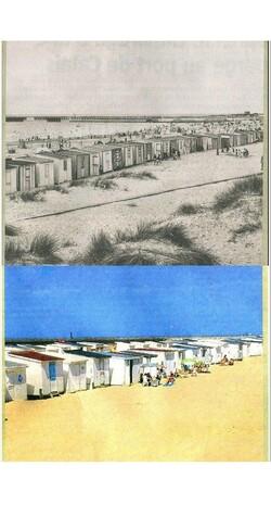 La plage en 1950