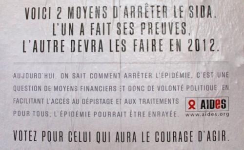sida affiche élection présidentielle 1