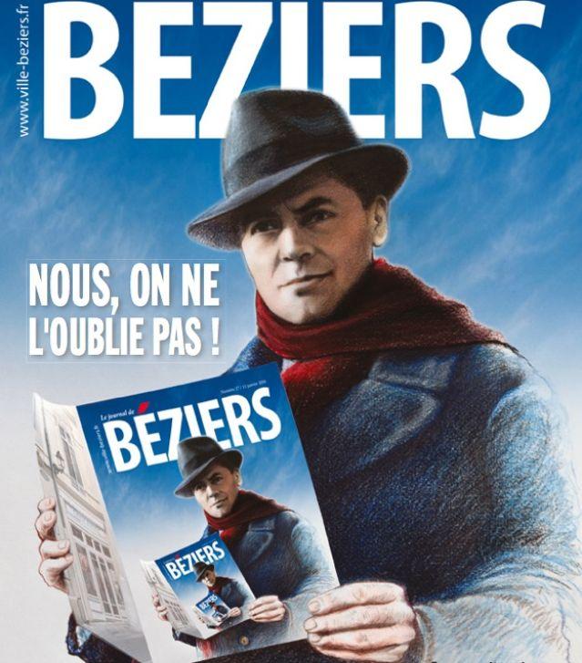 """""""Une"""" de la gazette municipale de la mairie de Béziers, en janvier 2016."""