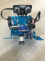 mBot et module ultrasons sur servomoteur, des yeux dans le dos ou presque !