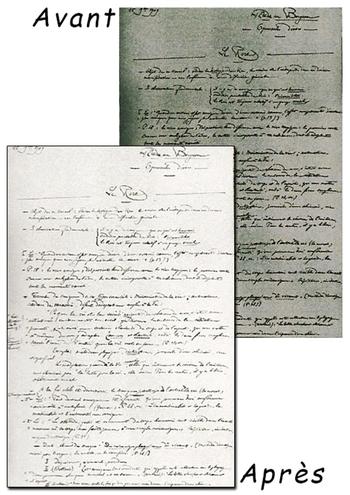 Corrections de lisibilité de lettre manuscrites
