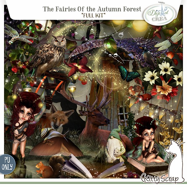kit the fairies of the autumn forest de kittyscrap