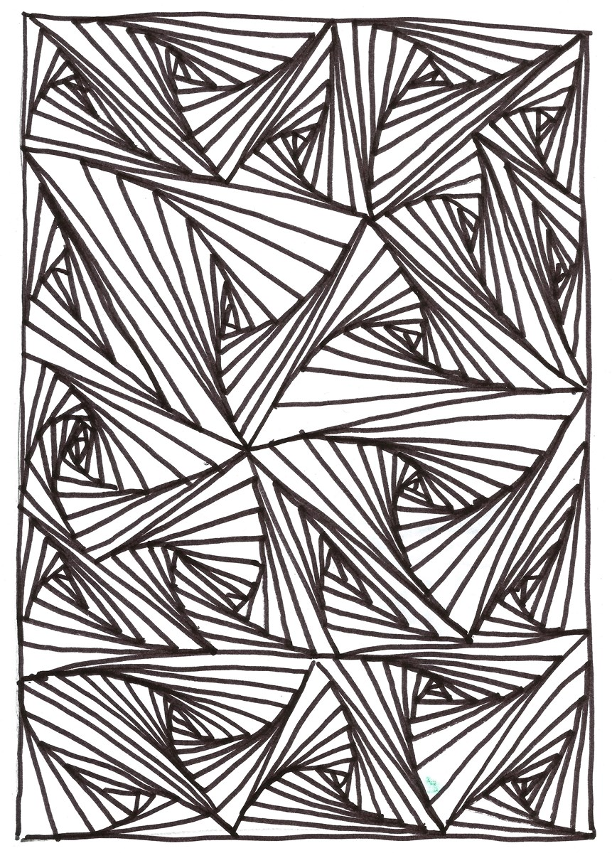 Coloriage illusion d optique colorier les enfants - Mini coloriage illusion d optique ...