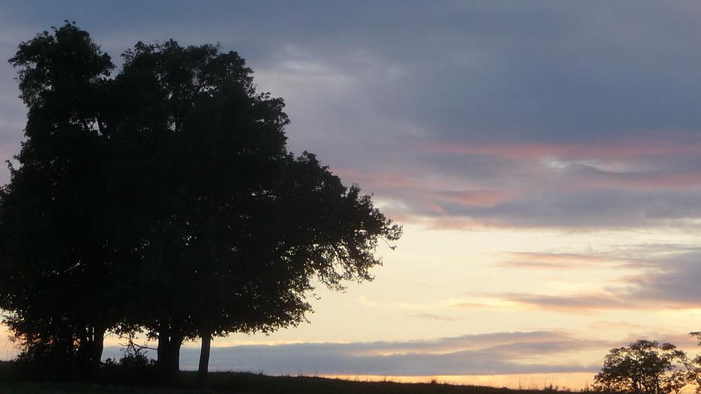 le soir à la campagne,