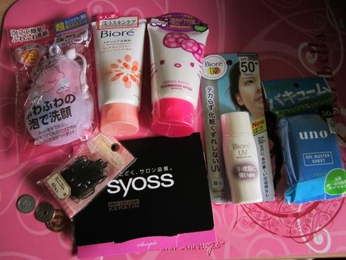 Mes achats cosmétiques au Japon